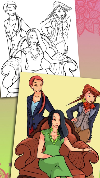 Paint top models – magical coloring pages