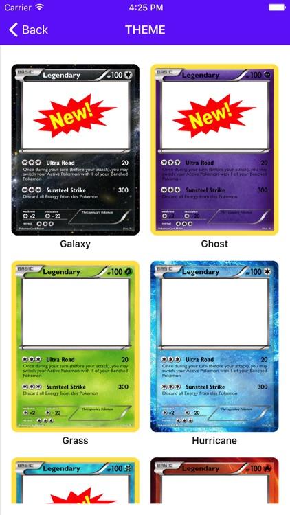 Card Maker Creator for Pokemon screenshot-3
