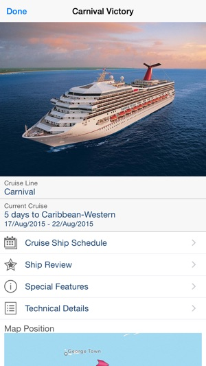 CruiseMapper On The App Store - Cruise ship finder app