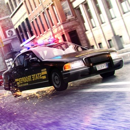 Police Car Driving Simulator . Racing the Robbers