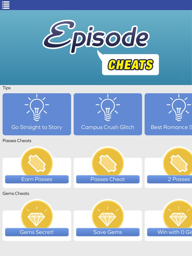 Passes & Gems Cheats for Episode Choose Your Story on the