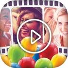 お誕生日 スライドショー メイカー 無料 おもしろい ビデオ icon