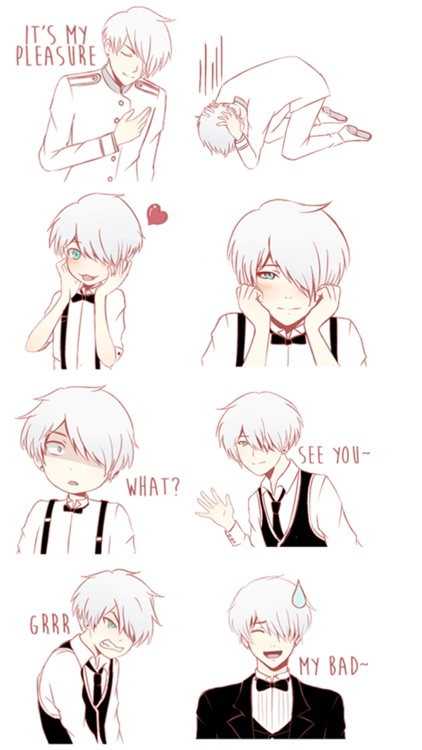 Cute Butler Stickers