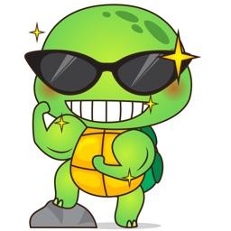 Pura the funny turtle 5 for iMessage Sticker