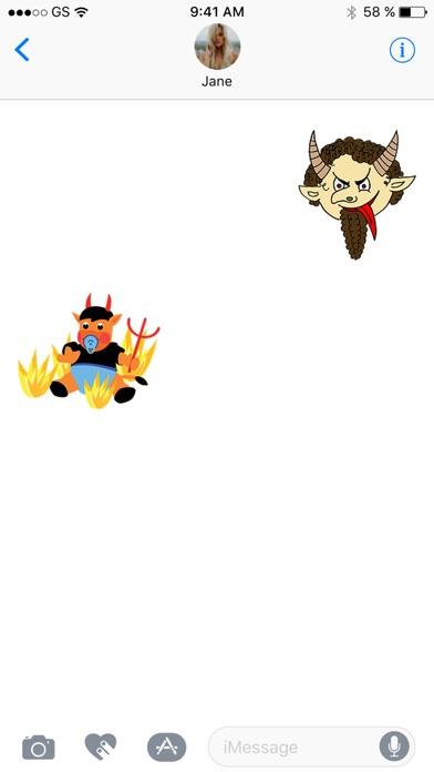 悪魔ステッカーパックのスクリーンショット2