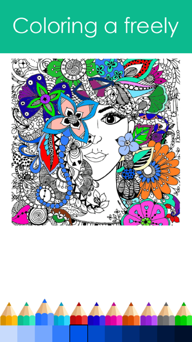 Princess Colorful - Coloring Book for Adults