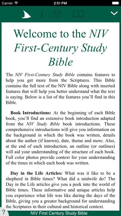 NIV First Century Study Bible screenshot-0