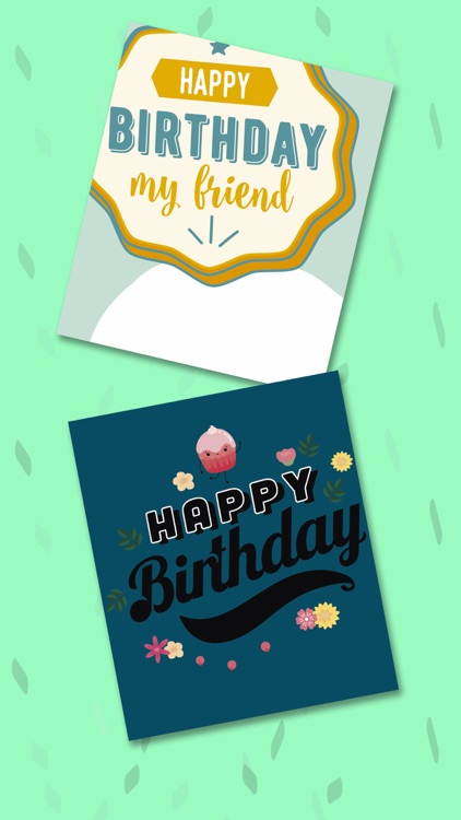 Happy birthday greeting cards – Create stickers