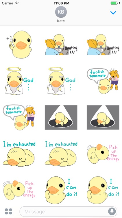 Stupid Little Duck English Sticker