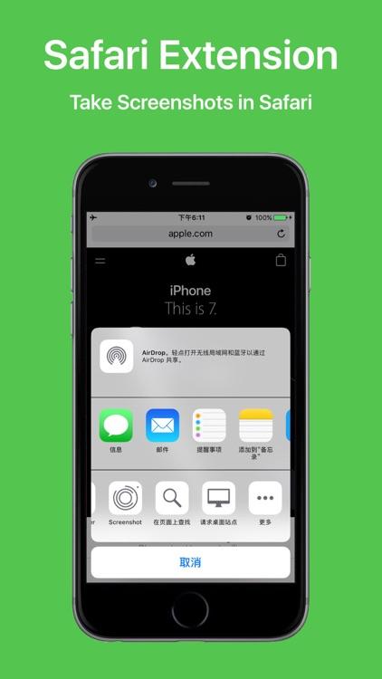 Screenshot - for Safari and Markdown screenshots