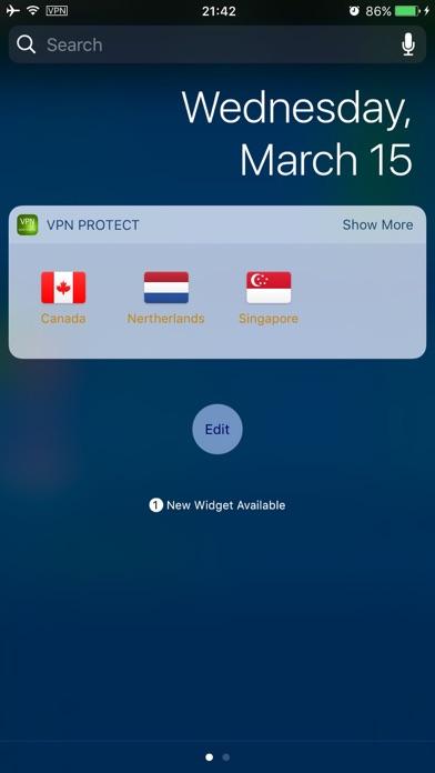 VPN Quick Connect - Today Widget support screenshot one