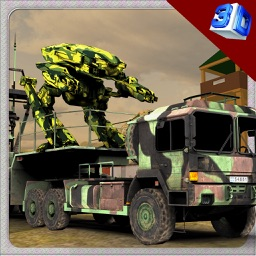Robot Transport Truck & Driving Simulator Game