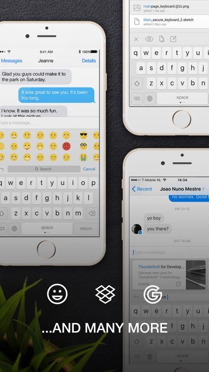 SecureKeyboard — File sharing, custom theme screenshot-4