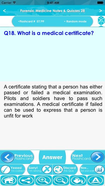Forensic Medicine Exam Prep- Study Notes & Quizzes screenshot-3