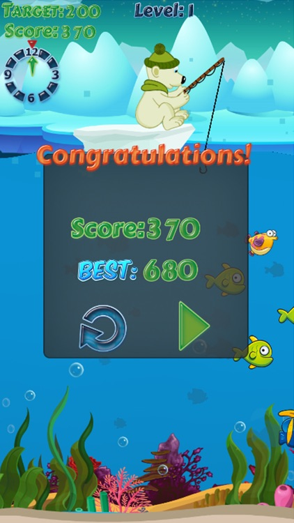 Polar Bear Fishing - fish game seafish games free
