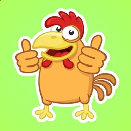 Yellow Rooster Stickers