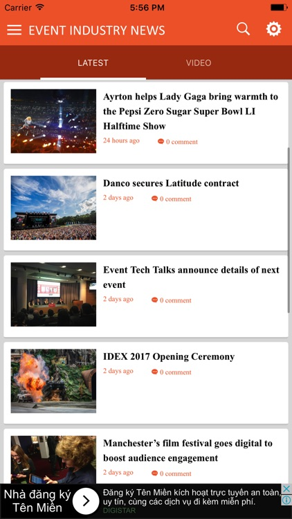 Event Industry News 2017