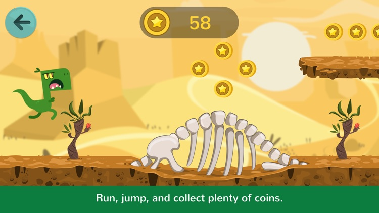 Dinos Jump - Dinosaur action game for kids