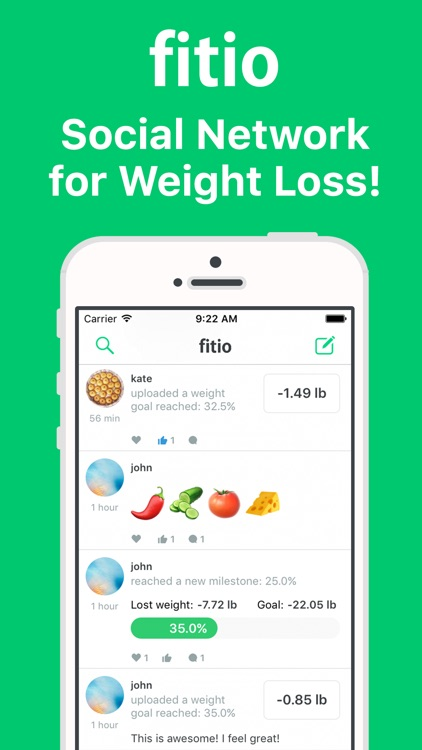 fitio – Social Network for Weight Loss!