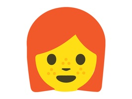 Enjoy 32 cute Redhead Emoji Stickers