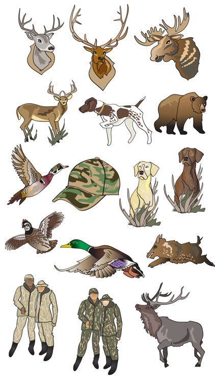 Hunting Stickers and Emojis
