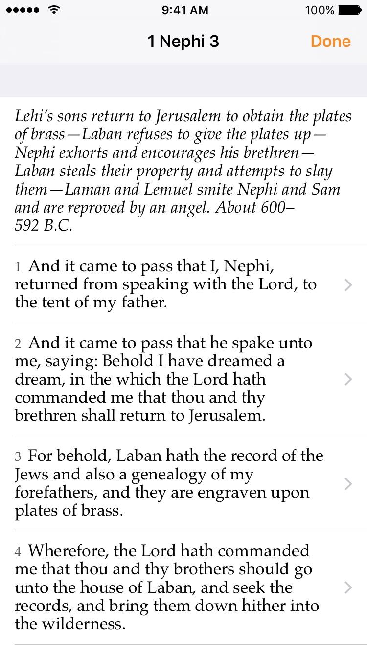 LDS Scripture Focus Screenshot