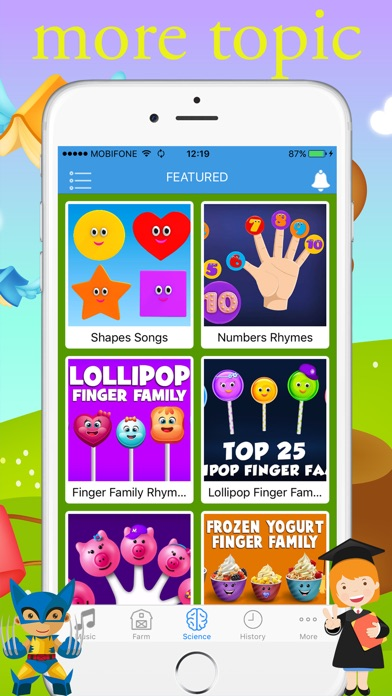 English For Kids - Music Video for YouTube Kids 1.0 IOS