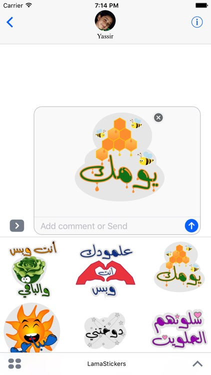 Lama Stickers screenshot-3