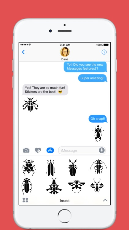Insect stickers by éric Palliet