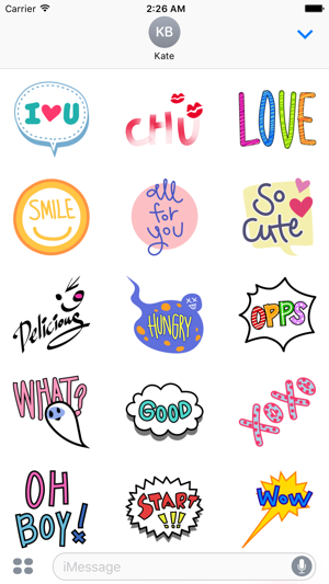 ‎Animated Lingo Stickers Screenshot