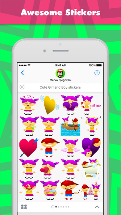 Cute Girl and Boy  (Animated) stickers by CandyA$$