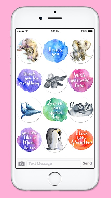 I Love You Mom Watercolor Mothers Day Sticker Pack screenshot-4
