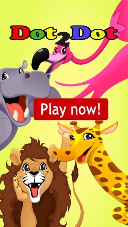 Animals Dot To Dot:finger paint for kids fun games