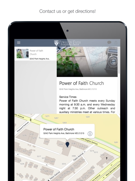 iPad Image of Power of Faith Baltimore