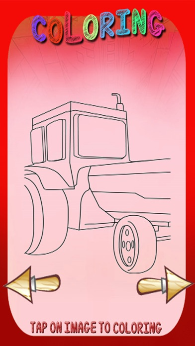 Monster Tractor Games Coloring Book For Kids app image