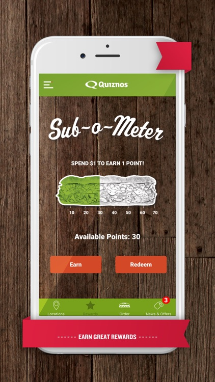 Quiznos Toasty Points