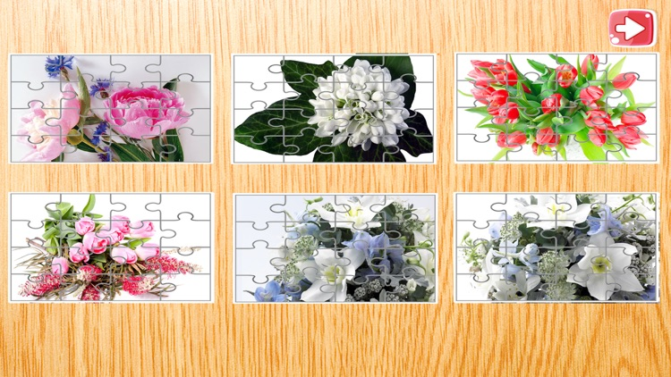 Flowers Jigsaw Puzzle For Kids 4 Year