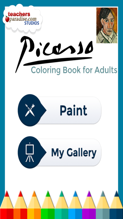 Picasso Coloring: Coloring Book for Adults screenshot one