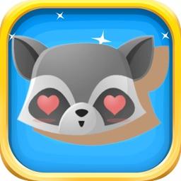 Cute Racoon Stickers - Racoon Emoji Stickers Pack