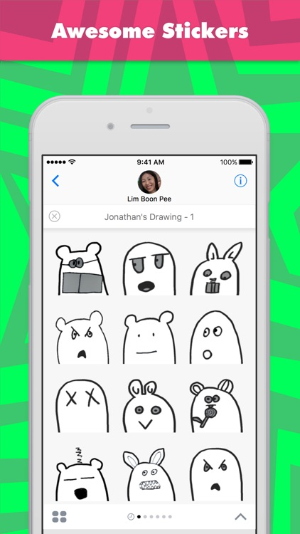 Jonathan's Drawing - 1 stickers by wenpei