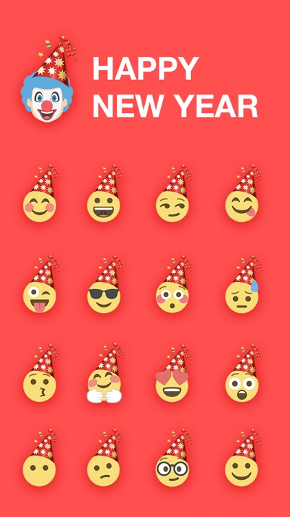 New Year Emoji - Emojis Sticker For iMessage