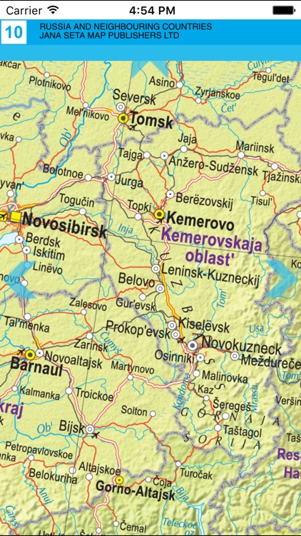 Russia and neighbouring countries. Road map screenshot-3