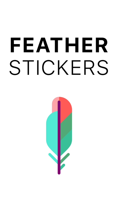 Feather Stickers screenshot one