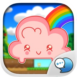 Cloud Sticker Emoji Keyboard Theme ChatStick