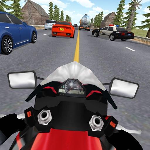 Freeway Traffic Rider 3D. Moto Racer in Highway