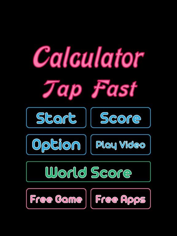 Calculator Tap Fast Game Скриншоты8