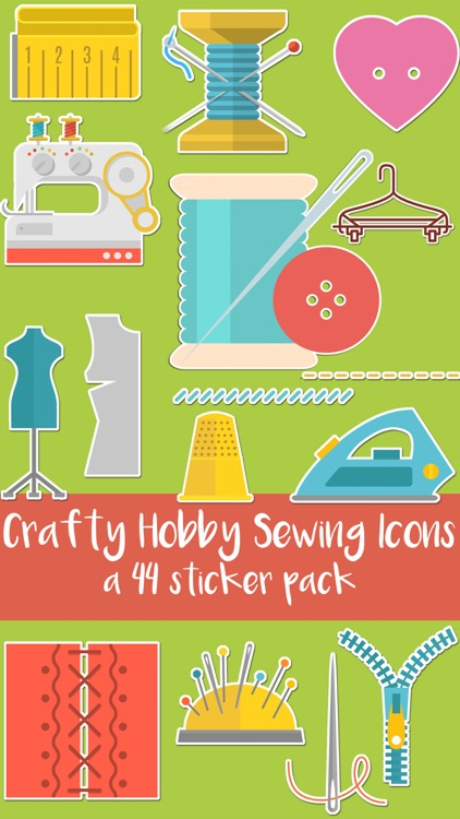 Crafty Hobby Sewing Icons Sticker Pack