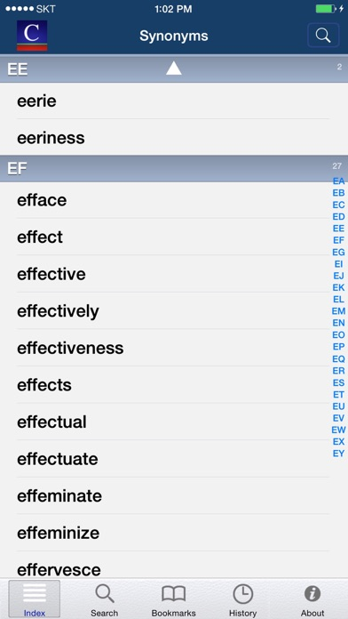 Screenshot for English Synonyms (Moby Thes) in United Kingdom App Store
