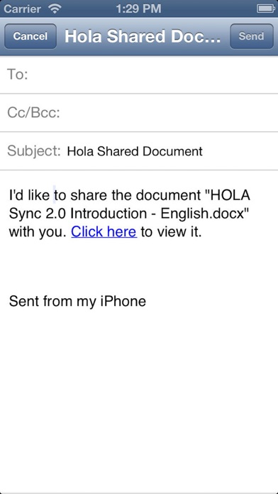 Hola Mobile Three Screenshot on iOS
