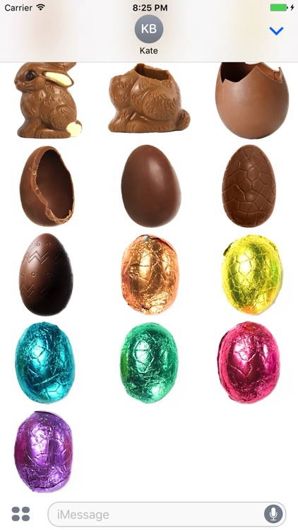 Chocolate Easter Bunnies & Eggs Stickers